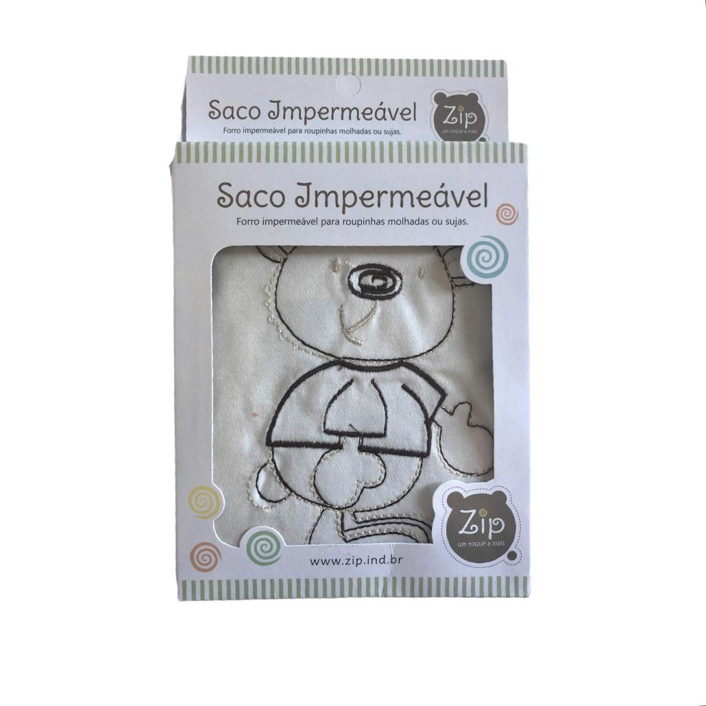 Saco Impermeável  Para Roupas Molhada Baby Creme - Zip Toys