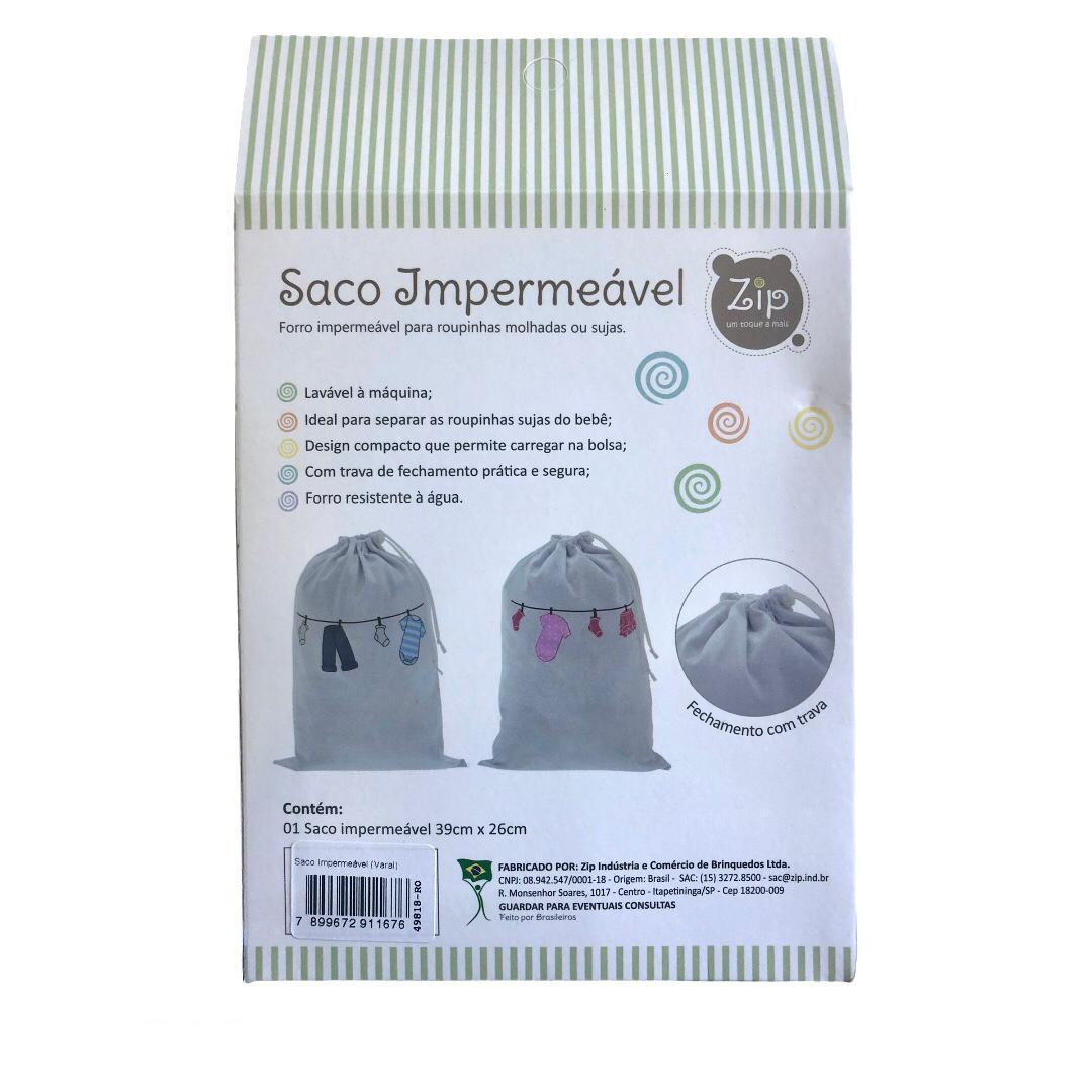 Saco Impermeável Para Roupas Molhadas Varal Menina - Zip Toys