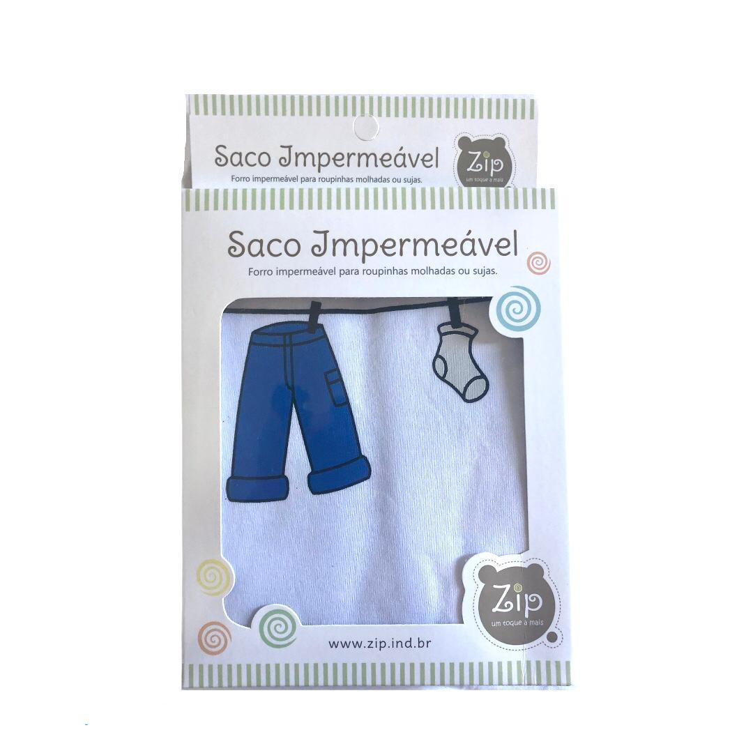 Saco Impermeável Para Roupas Molhada Varal Menino - Zip Toys