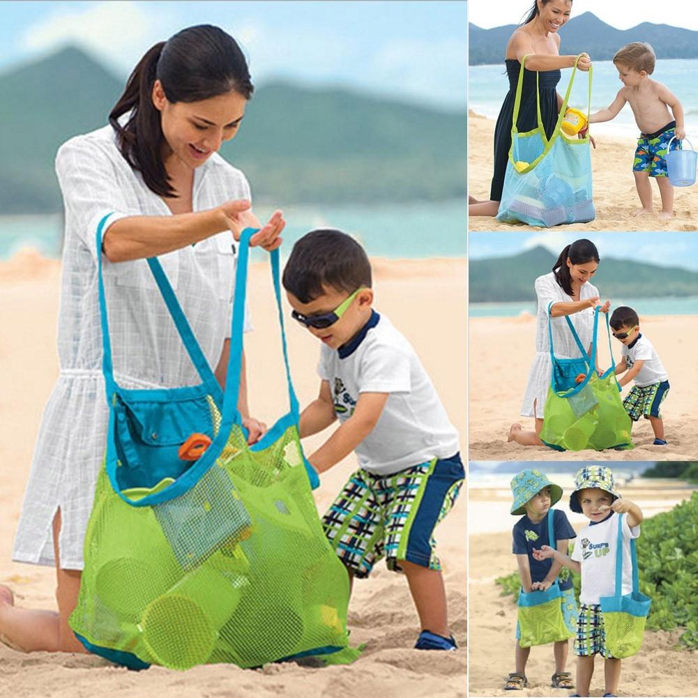 Sacola Organizador de Brinquedos Praia e Piscina Azul - Baby