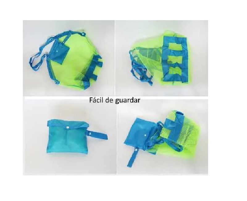 Sacola Organizador de Brinquedos Praia e Piscina Verde - Baby