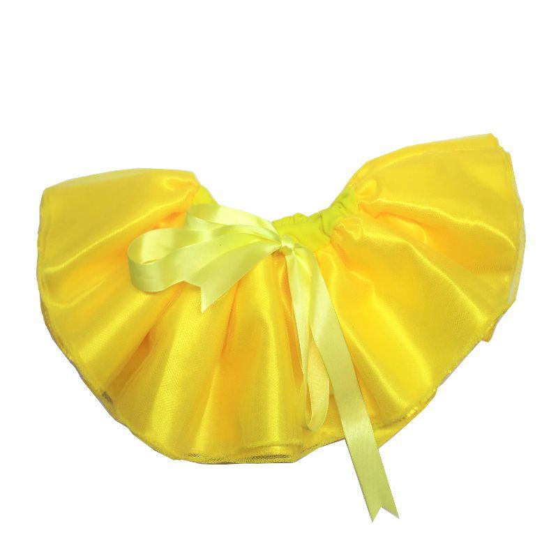 Saia Tutu cintura ajustável amarelo - Minha Estrelinha