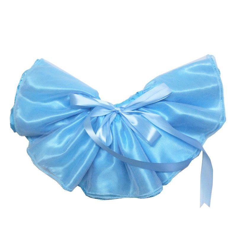 Saia Tutu cintura ajustável azul claro - Minha Estrelinha