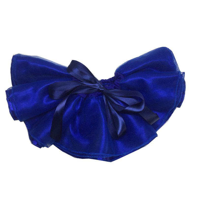 Saia Tutu cintura ajustável azul - Minha Estrelinha