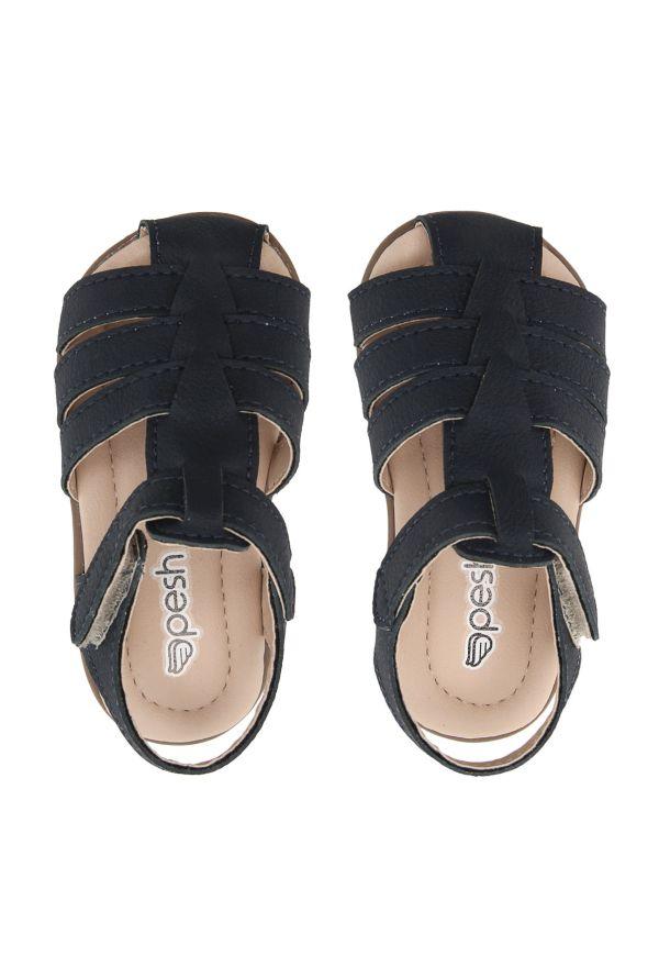 Sandália Infantil Pesh com Velcro - Azul Marinho