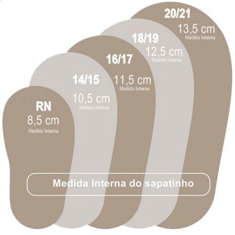 Sapatilha Maria - Onça Gliter - Mac Bebê - Tamanho 16