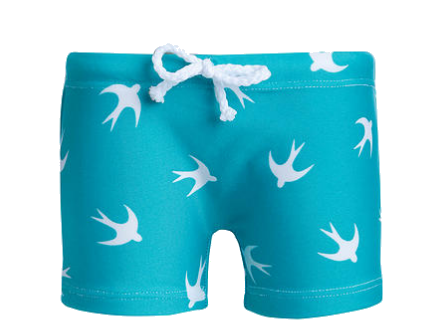 Short David Pássaros - Água com Sal