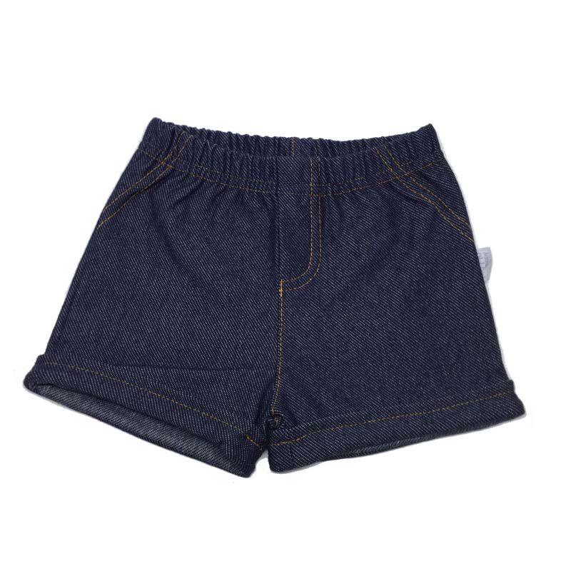Shorts Malha Cor Jeans Menina - Piu Piu