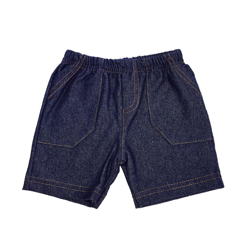 Shorts Malha Cor Jeans Menino - Piu Piu