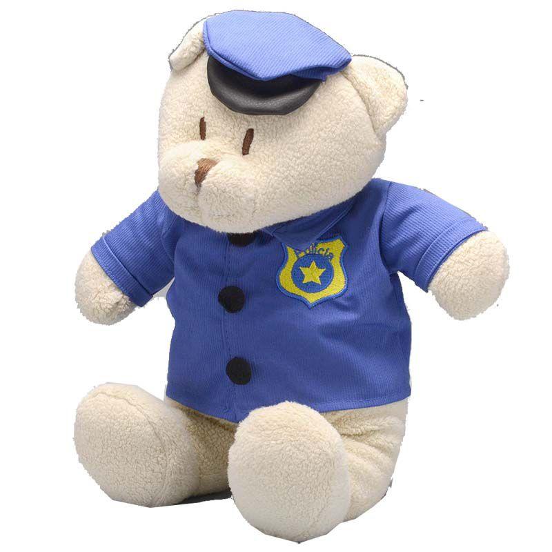 Super Zip Urso Policial de Pelúcia - Zip Toys