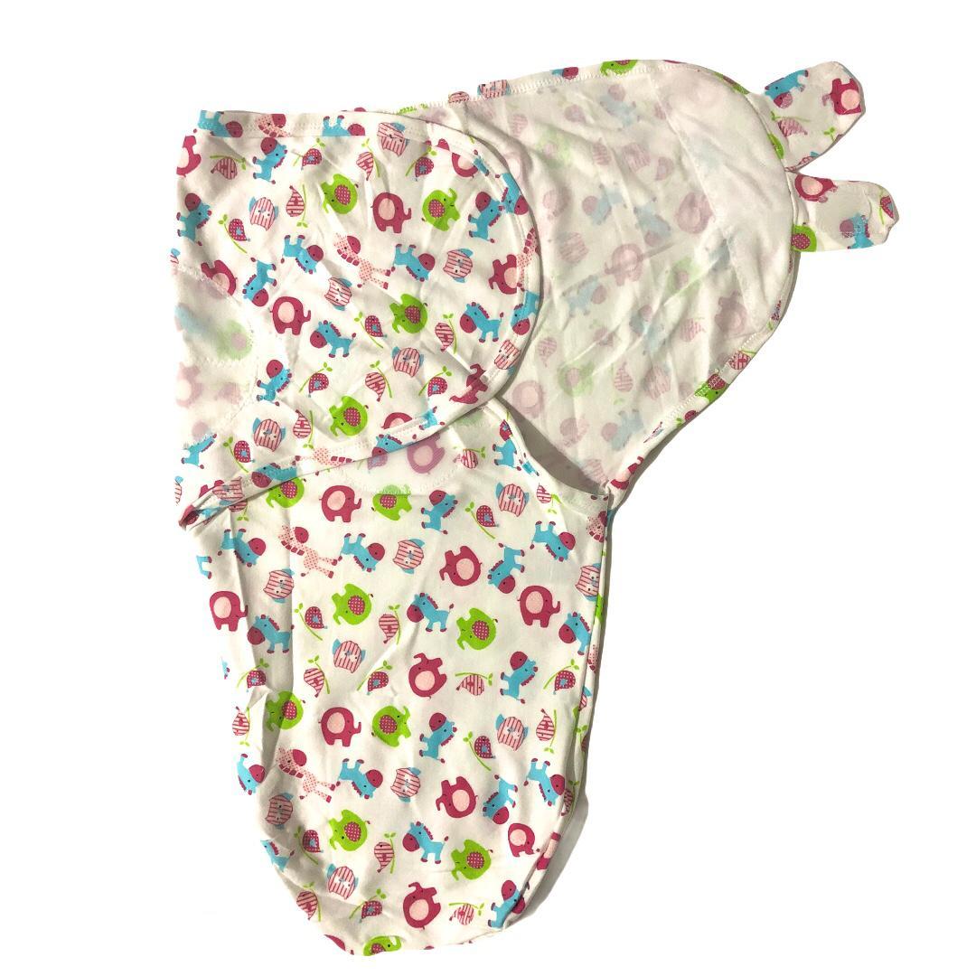 Swaddle Ajustável com Velcro Animais Rosa - Baby