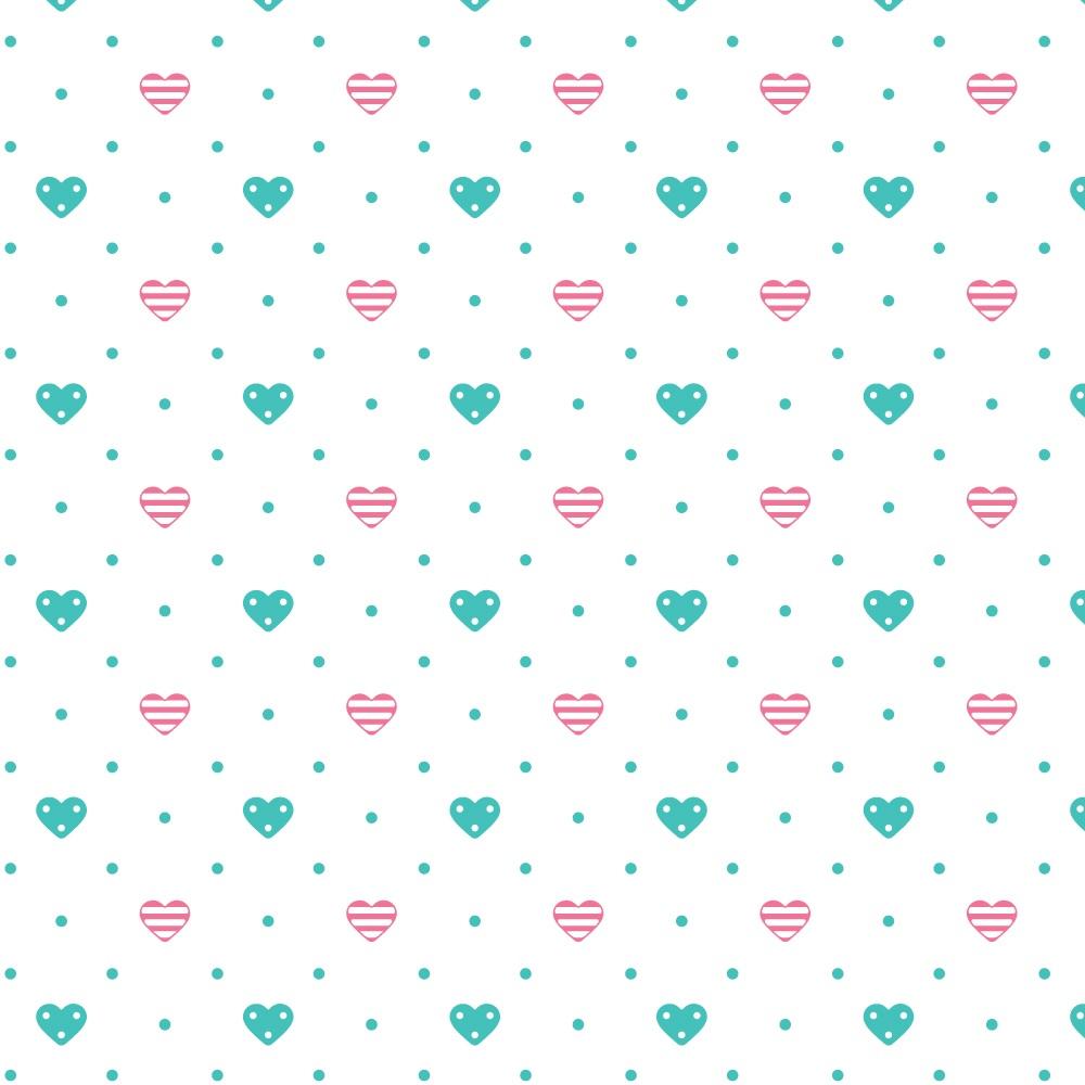 Swaddle Ajustável com Velcro Corações Rosa - Comtac Kids