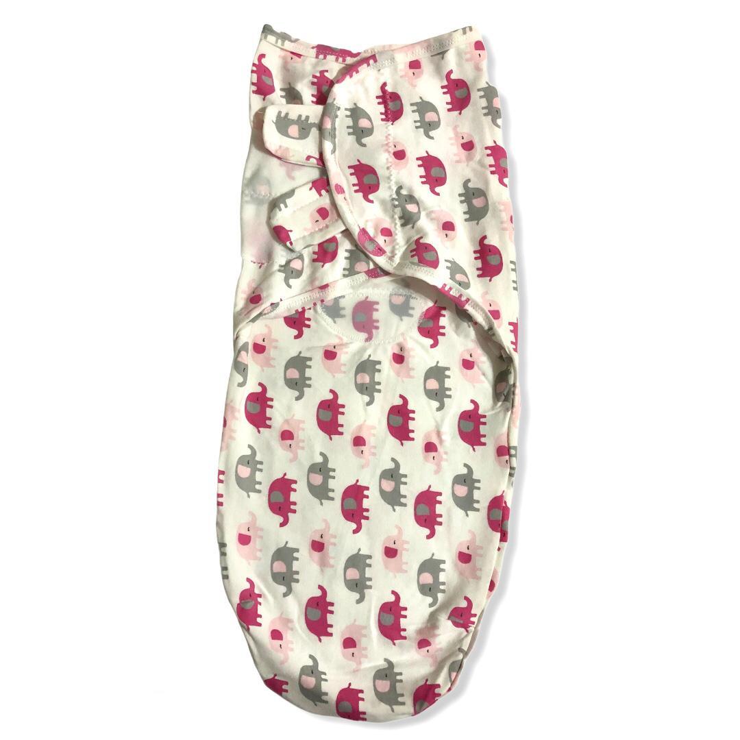 Swaddle Ajustável com Velcro Elefantinhos Rosa - Baby