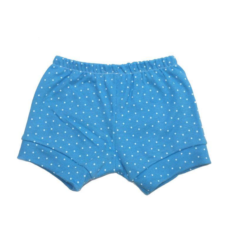 Tapa fralda Poá Azul Céu - Top Chot -  Tamanho M