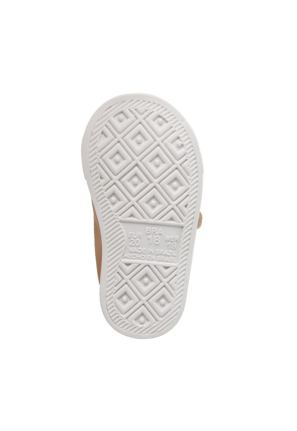 Tênis Infantil Pesh com Velcro e Elástico - Caramelo