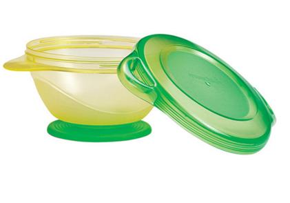 Tigela Com Ventosa  Munchkin - Click Lock Amarela e Verde