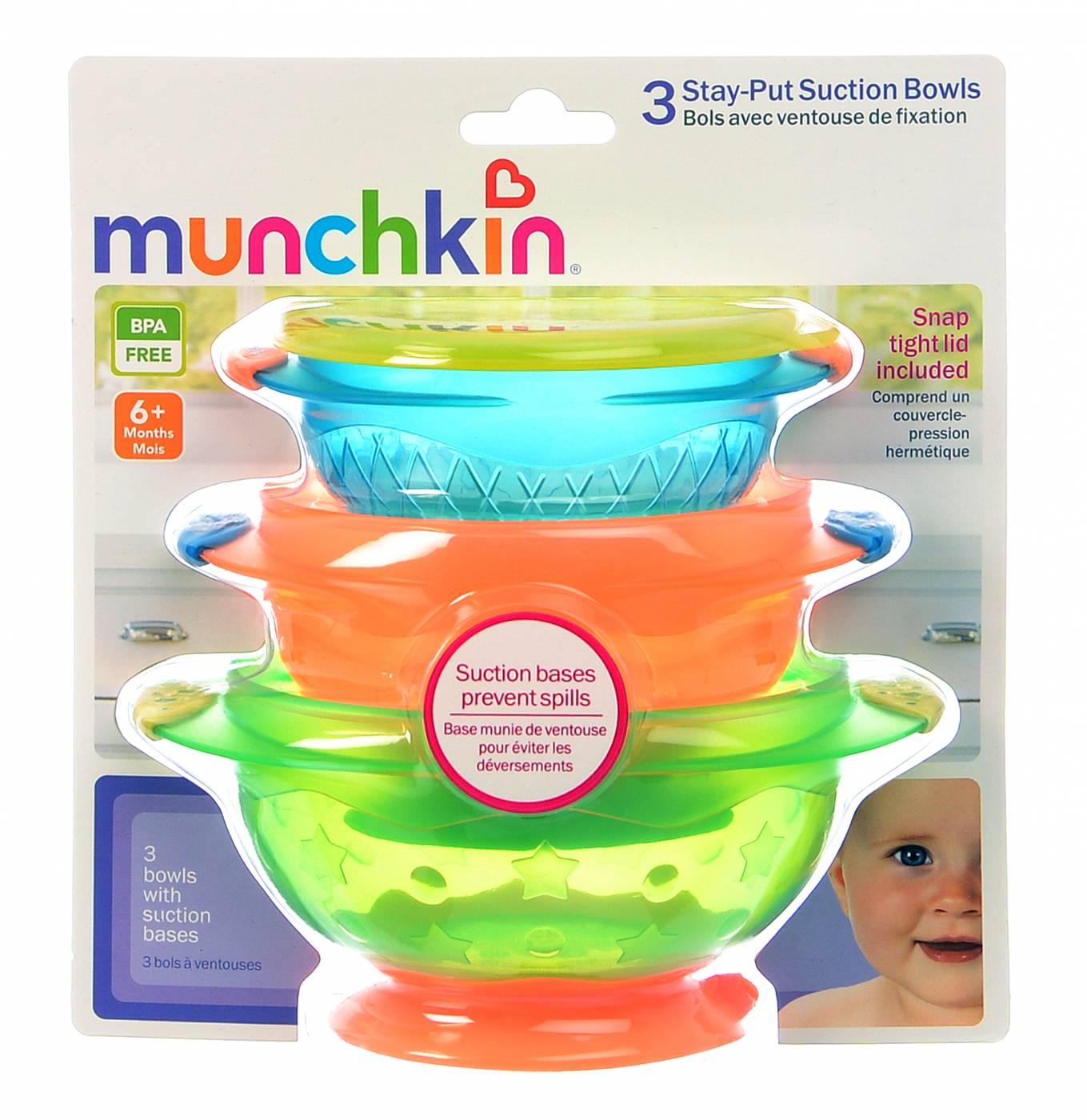 Tigelas com ventosa - Munchkin - 3 Unidades