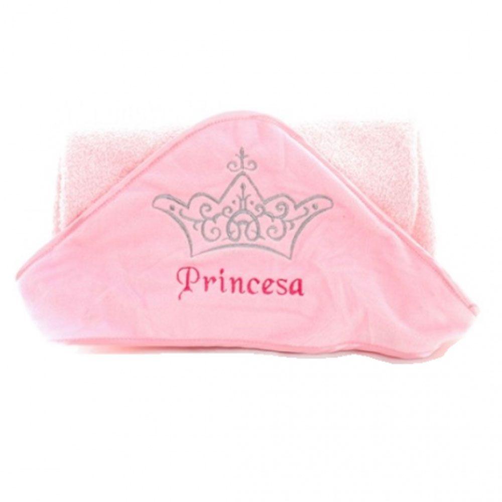 Toalha de Banho Princesa Com Capuz - Zip Toys