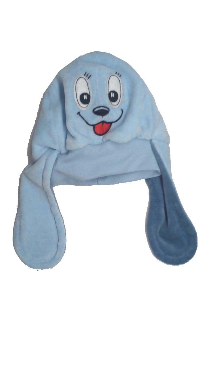 Touca Plush Cachorrinho Azul- Kepis - 12 a 24 meses
