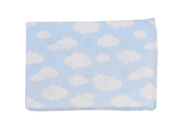 Travesseiro Alvinha Antissufocante Nuvem Azul - Minasrey