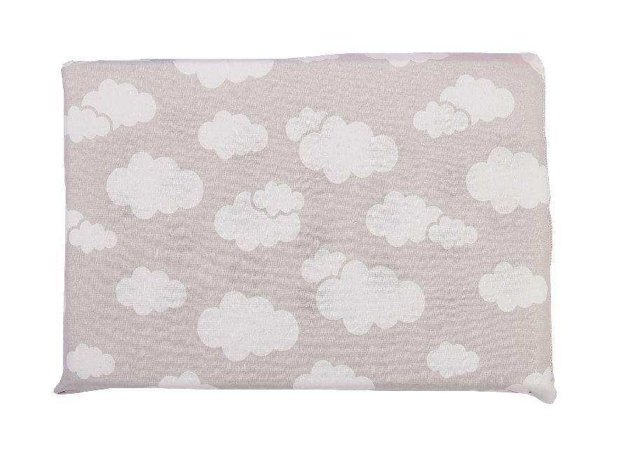 Travesseiro Alvinha Antissufocante Nuvem Cinza - Minasrey