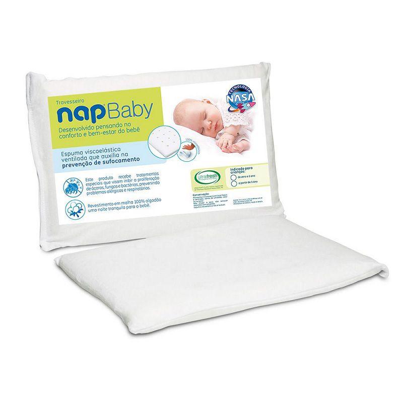 Travesseiro Bebê Viscoelástico NapBaby - RN
