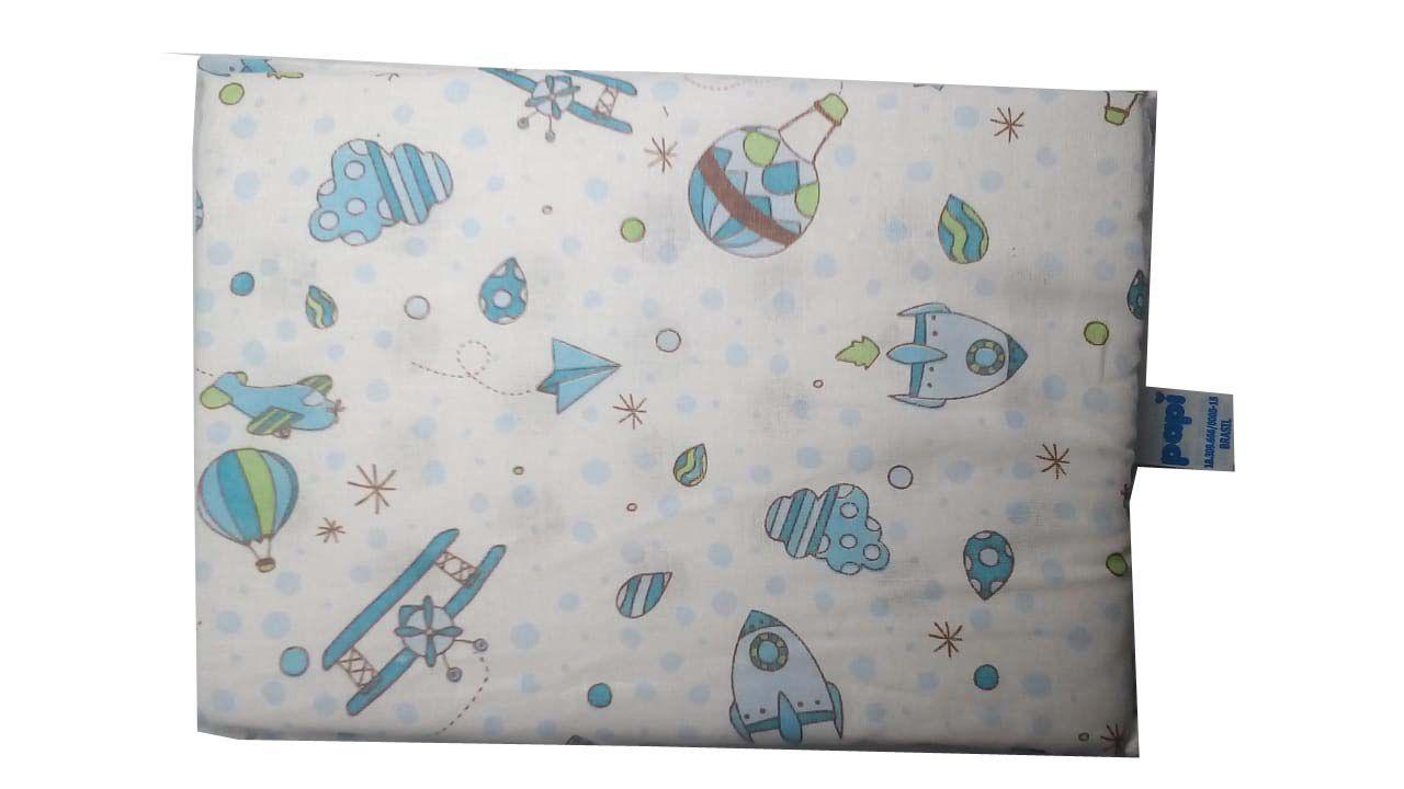 Travesseiro Estampado Avião Antissufocante - Papi Baby