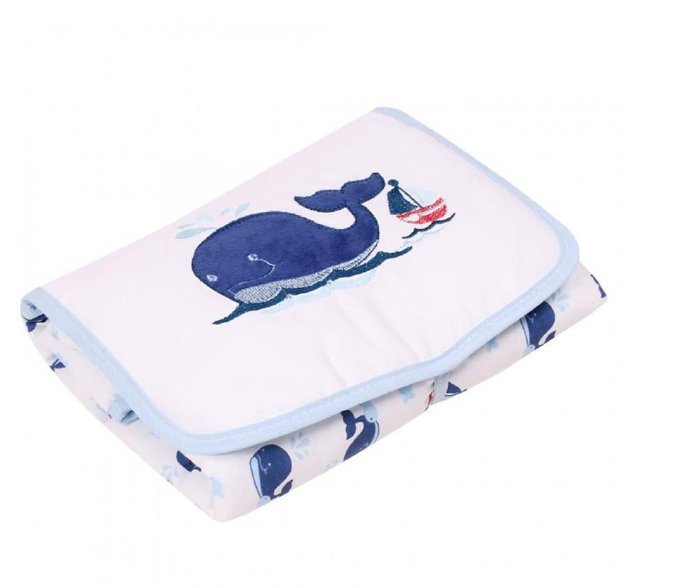 Trocador de Fraldas Filhotes Baleia Azul - Minas Rey