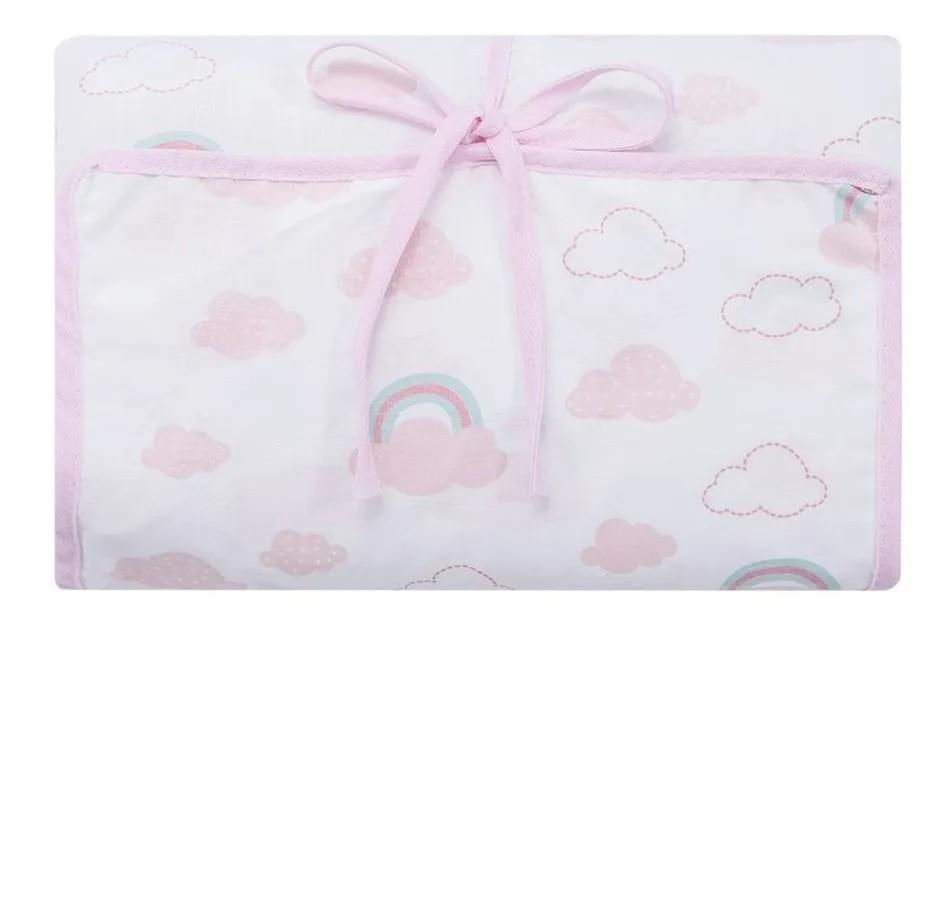 Trocador de Fraldas Portátil Nuvens Rosa - Papi Baby