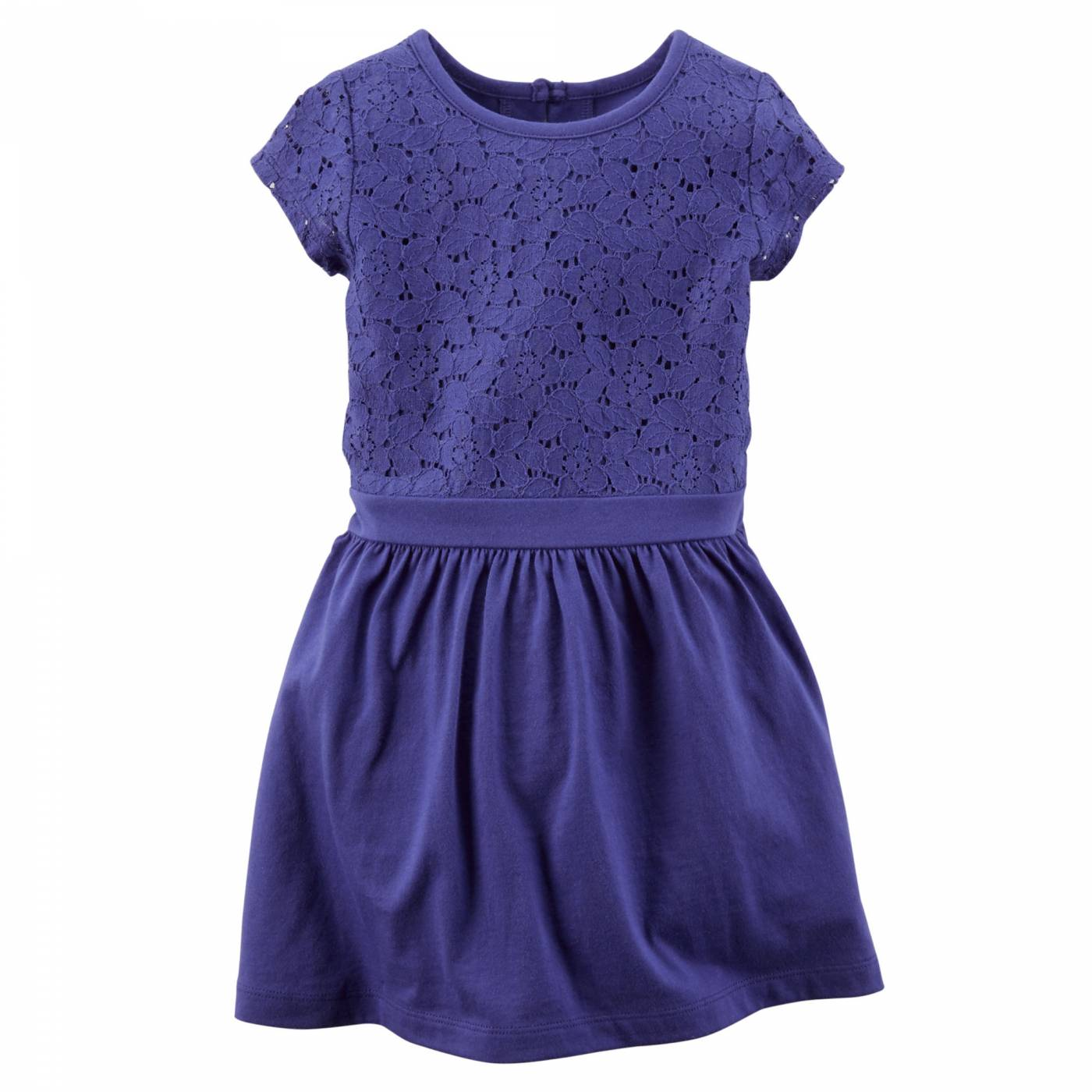 Vestido detalhe renda azul - 4 anos
