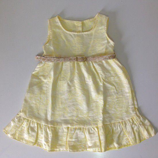 Vestido Jacquard amarelo - Kookabu - Tamanho 3 anos