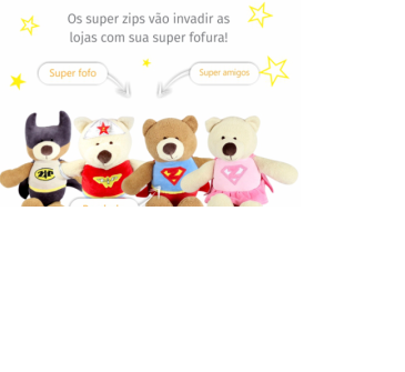 Zip Bat Urso de Pelúcia  - Zip Toys