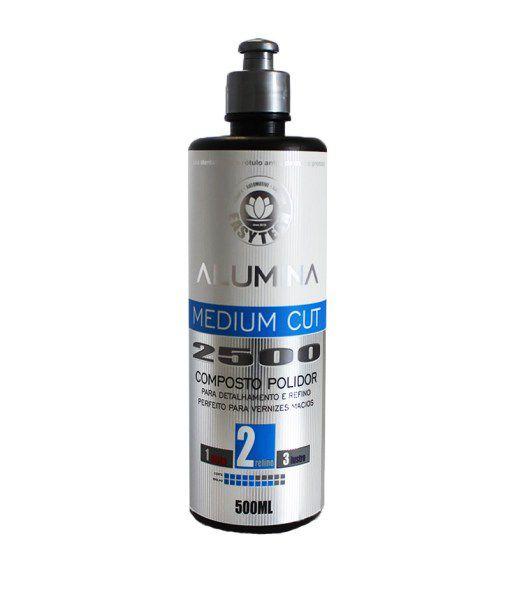 Alumina Medium Cut 2500 – Composto Polidor de Refino 500ML