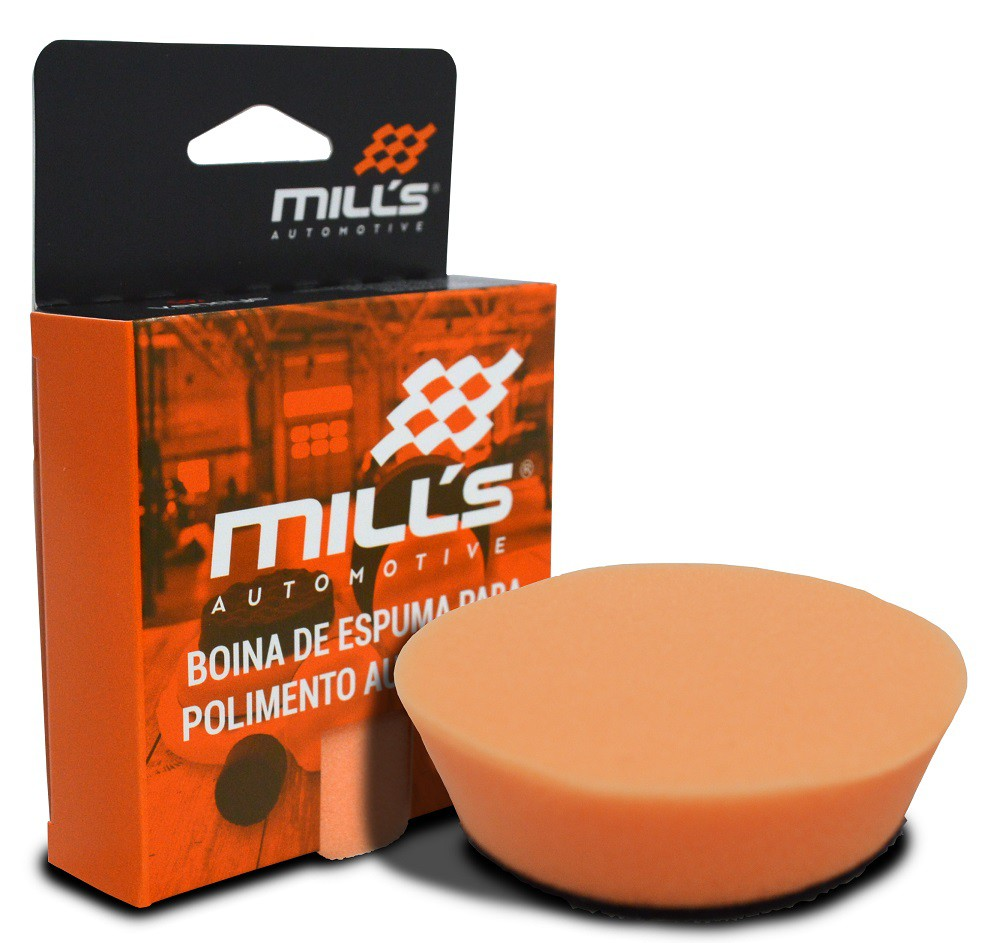 Boina de Espuma Laranja Mills (Corte Suave) 85 mm (3