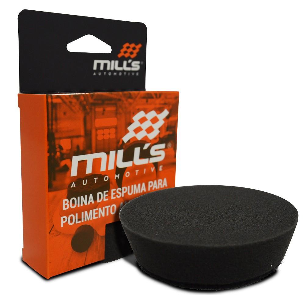 Boina de Espuma Preta Mills (Lustro) 85 mm (3