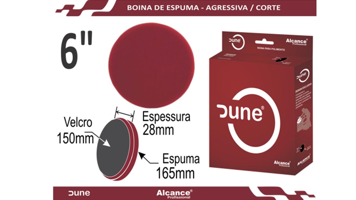 Boina Espuma Agressiva Vermelha Dune 6
