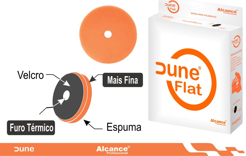 Boina Espuma Flat Dune Médio Agressiva/Refino 5