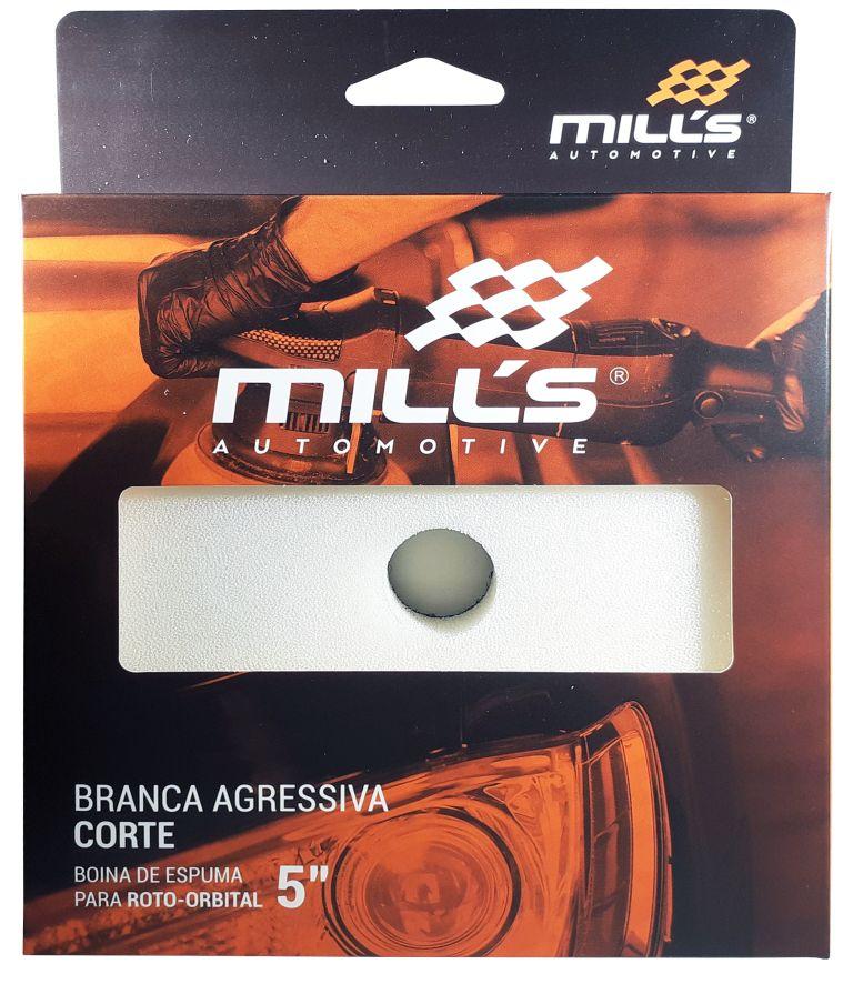 Boina Espuma para Orbital Branca (Agressiva) Mills 127 mm (5