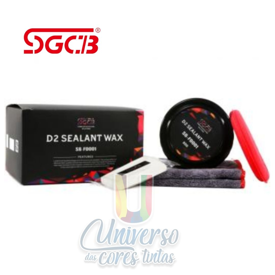 D2 Selante de Pintura 80GR SGCB - Kit C/Aplicador, Microfibra e Claybar