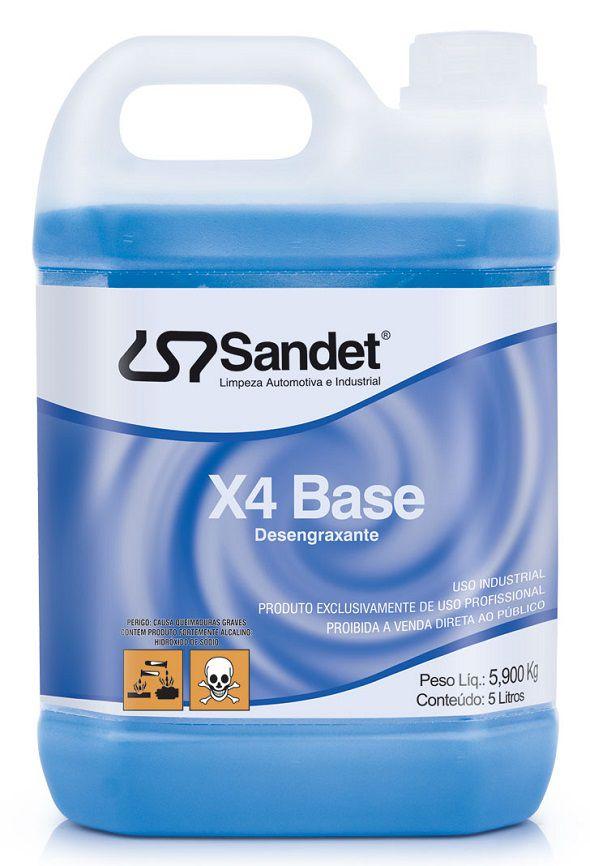 Desengraxante X4 Base 5 Litros Sandet