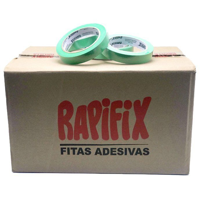 Fita Crepe Verde 18x40m Rapifix Caixa C/66 Unid.