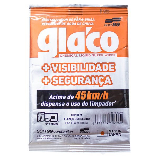 Glaco Wipe On - Lenço Umedecido de Aplicação - Soft99