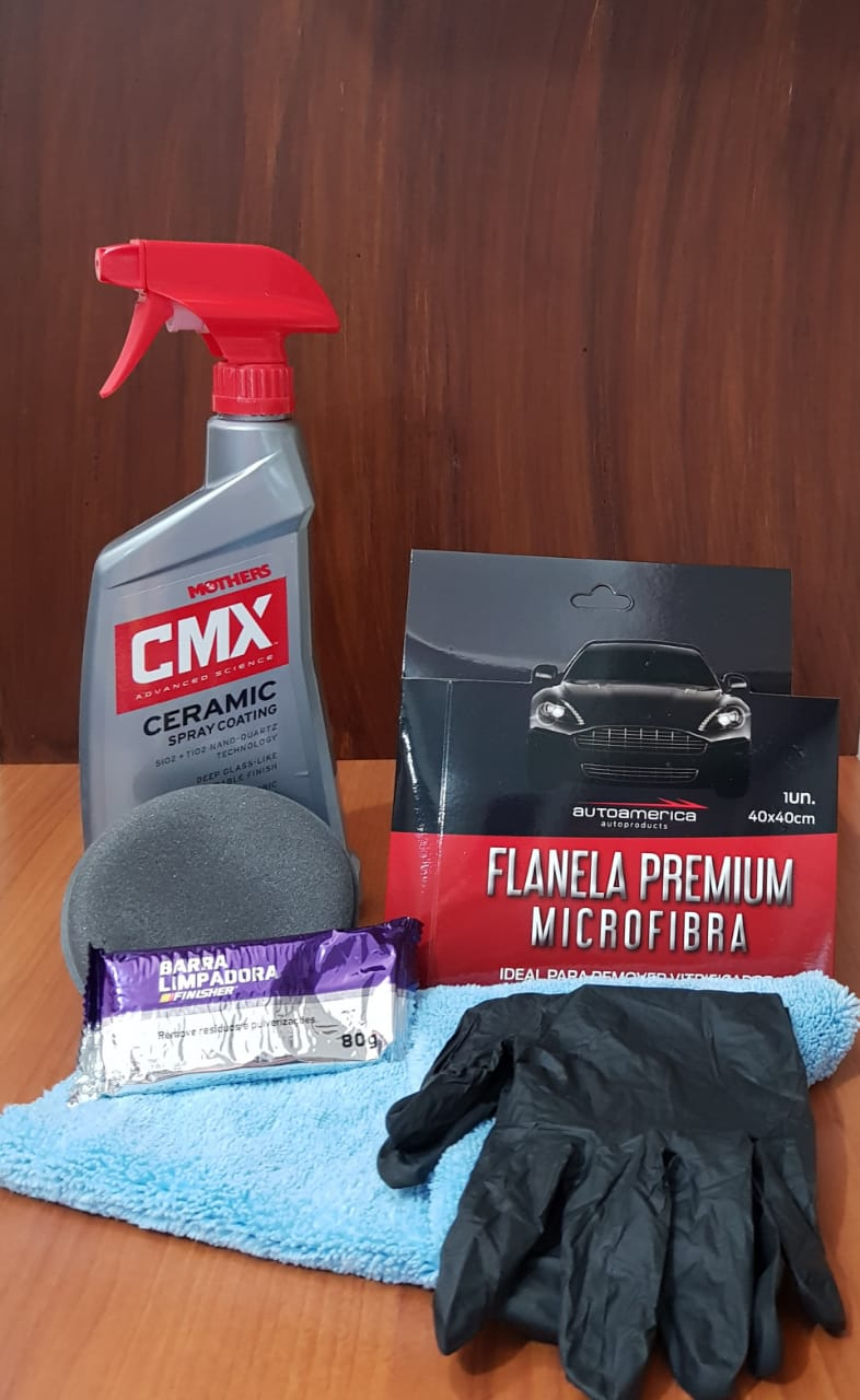 Kit Ceramic Coating CMX e Descontaminação
