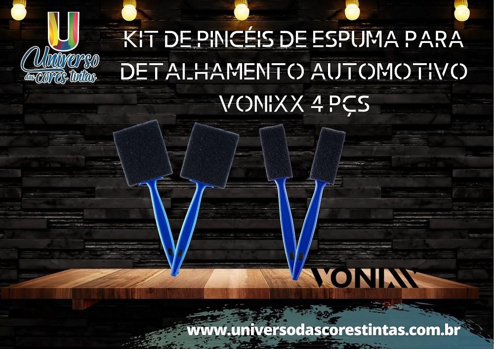 Kit de Pincéis de Espuma para Detalhamento Automotivo Vonixx 4 PÇS
