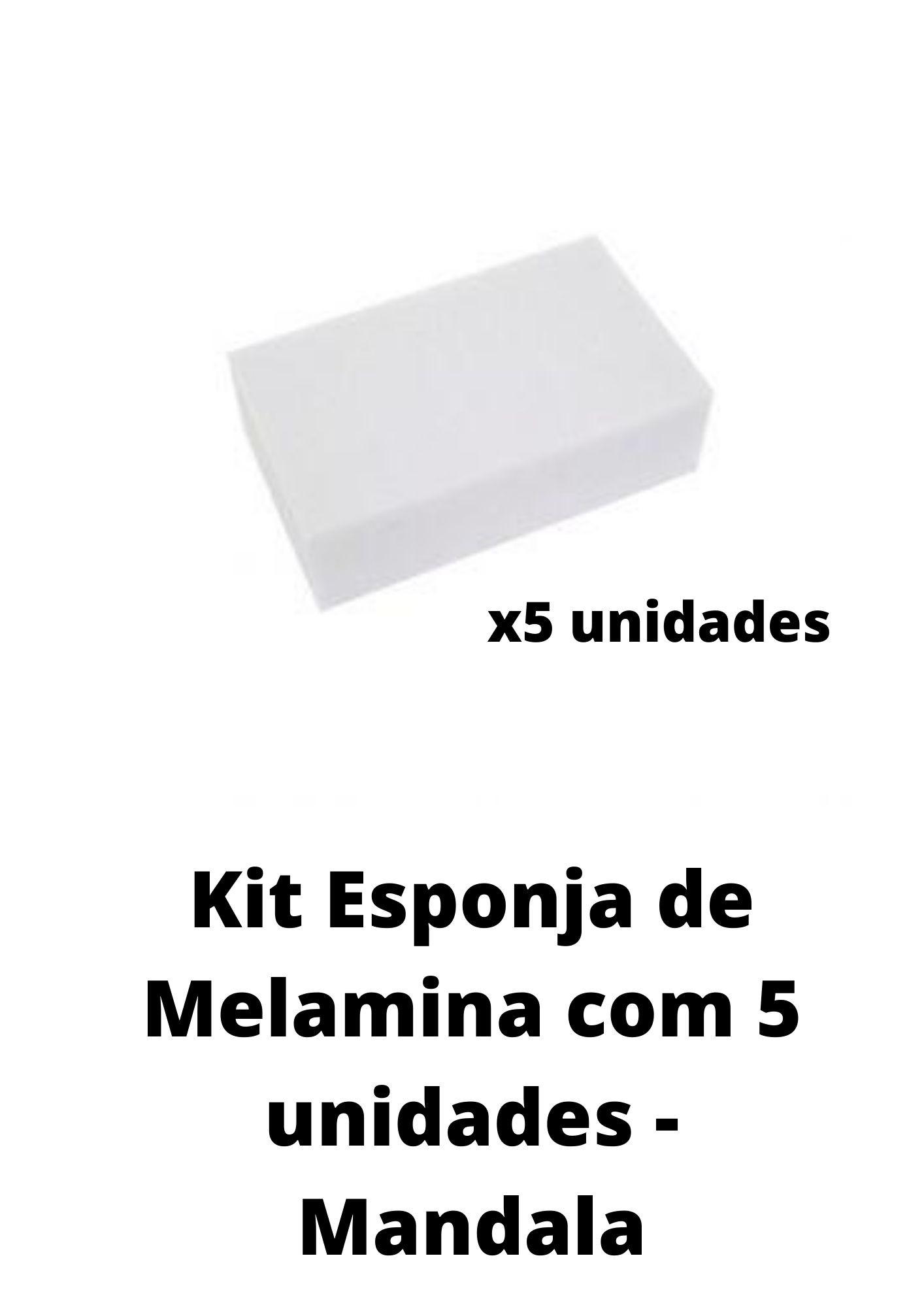 Kit Esponja de Melamina C/ 5 Unidades - Mandala