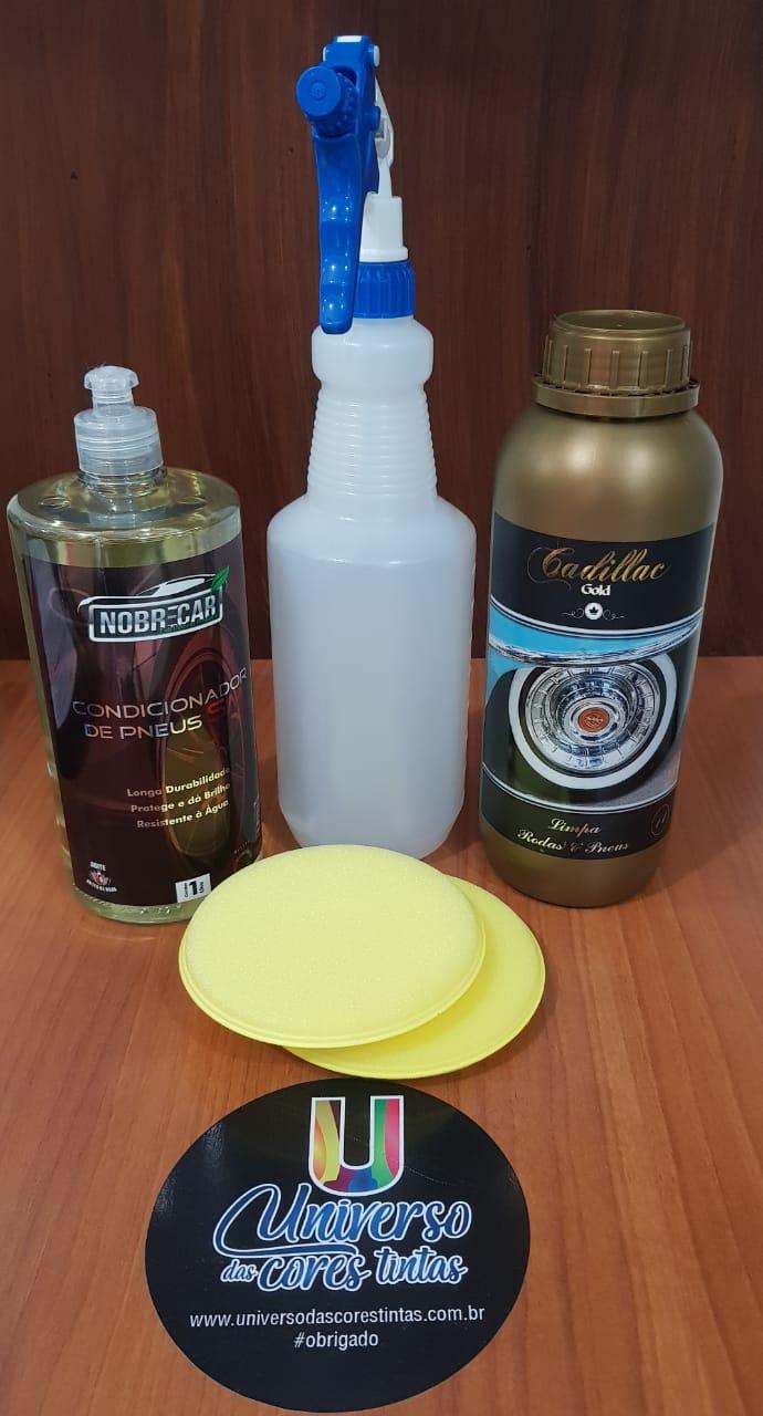 Kit Limpeza e Cuidados com Pneus Nobre Car