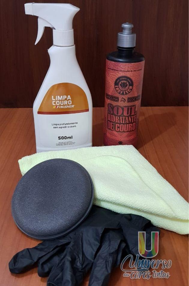 Kit Limpeza e  Hidratação de Couro
