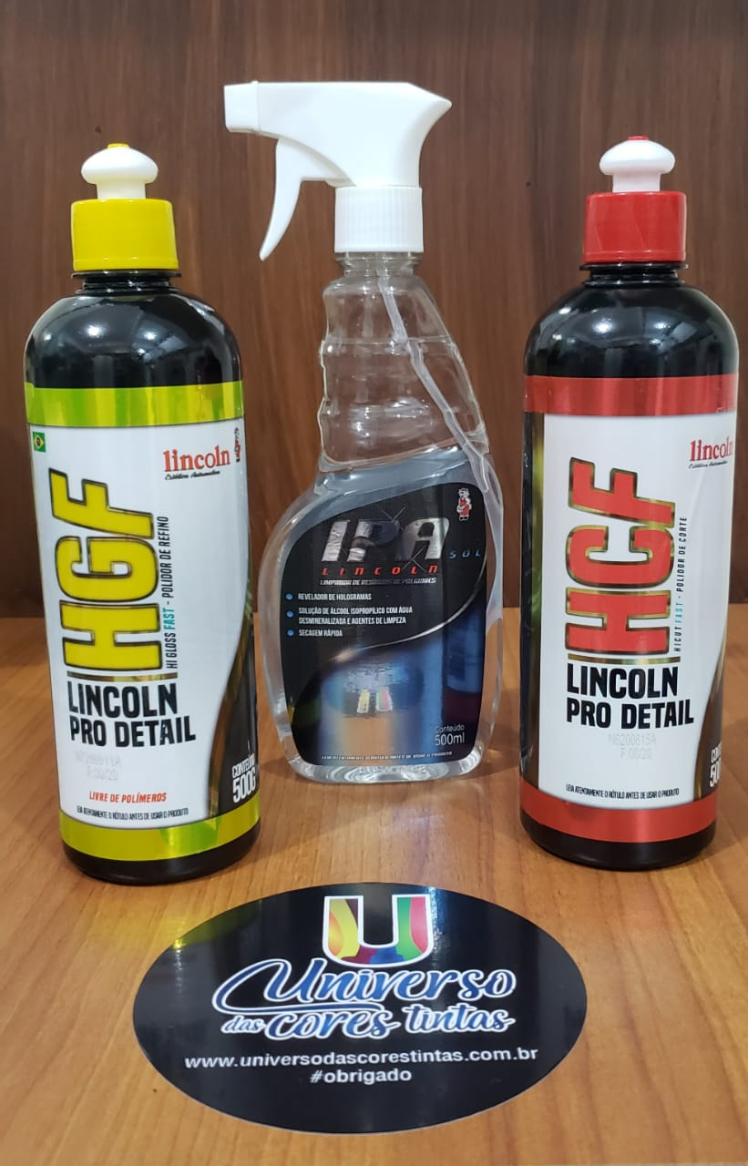 Kit Polidores Lincoln Hicut Fast + Higloss Fast + IPA Sol Lincoln