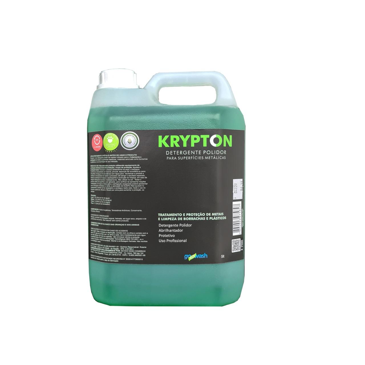 Krypton - Detergente para Metais, e Limpeza de Borrachas e Plásticos  5L