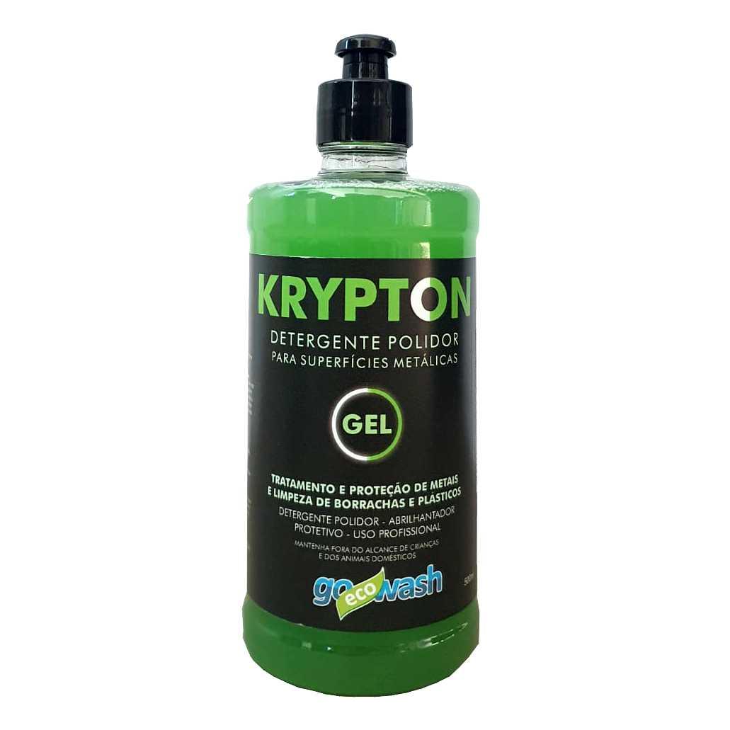 Krypton GEL - Detergente para Metais, e Limpeza de Borrachas e Plásticos 500ML